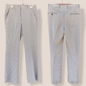 Vintage Neutral Houndstooth High Rise Dress Pants